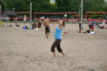 beach volleyball server